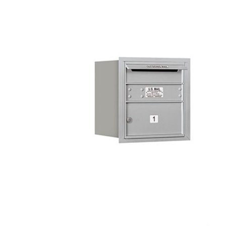 Salsbury 3704S-01ARP 4 Door High Unit 16.50 Inches - Single Column - 1 Mb2 Door - Aluminum - Rear Loading - Private Access