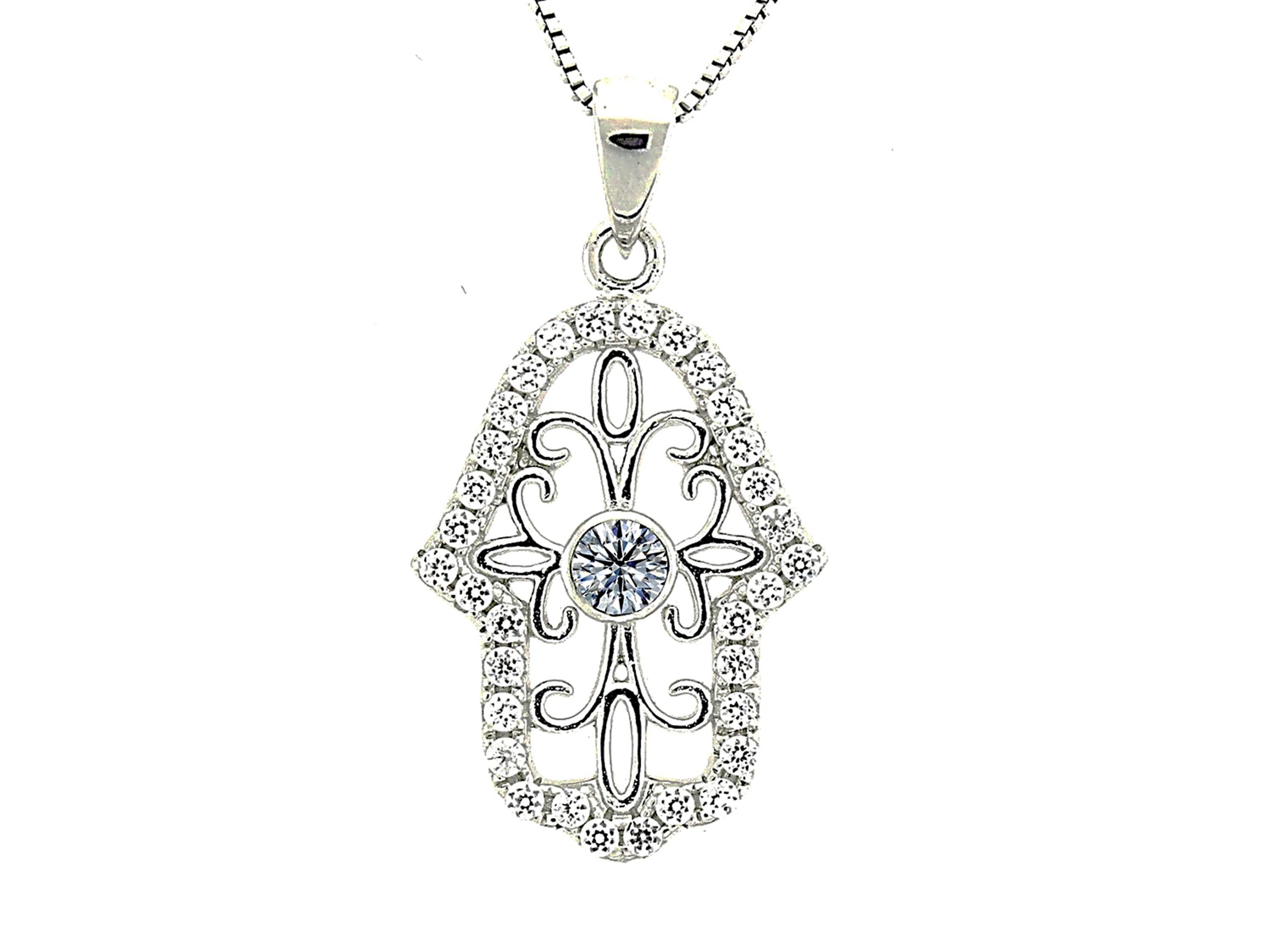 Sterling Silver Girls .8mm Box Chain Small Simulated April Birthstone Baby Shoe Bootie Pendant Necklace