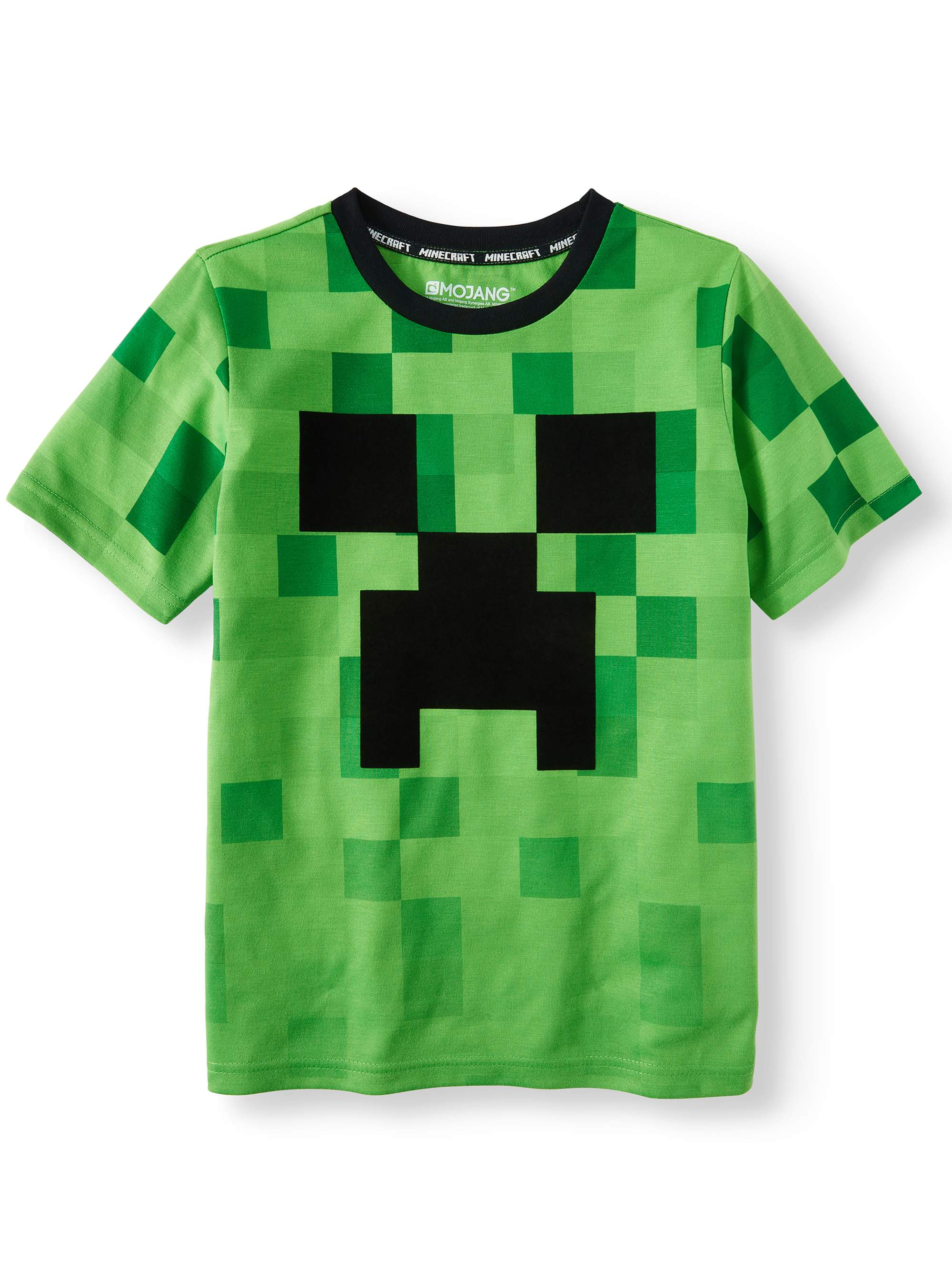 """Creeper Camo Logo Fade"" Short Sleeve Licensed Tee (Little Boys & Big Boys)"