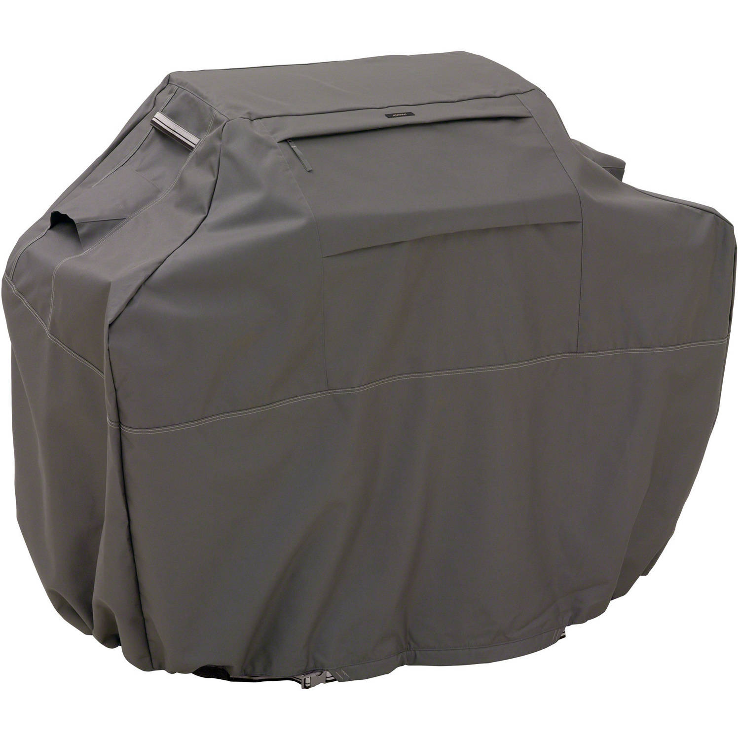 """Classic Accessories Ravenna BBQ Grill Cover, Large, Fits Grills up to 64"""", Taupe"""
