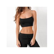 Thin Sexy Tight Sling Hollow Sling Exposed Navel back Navel Small Vest,Black
