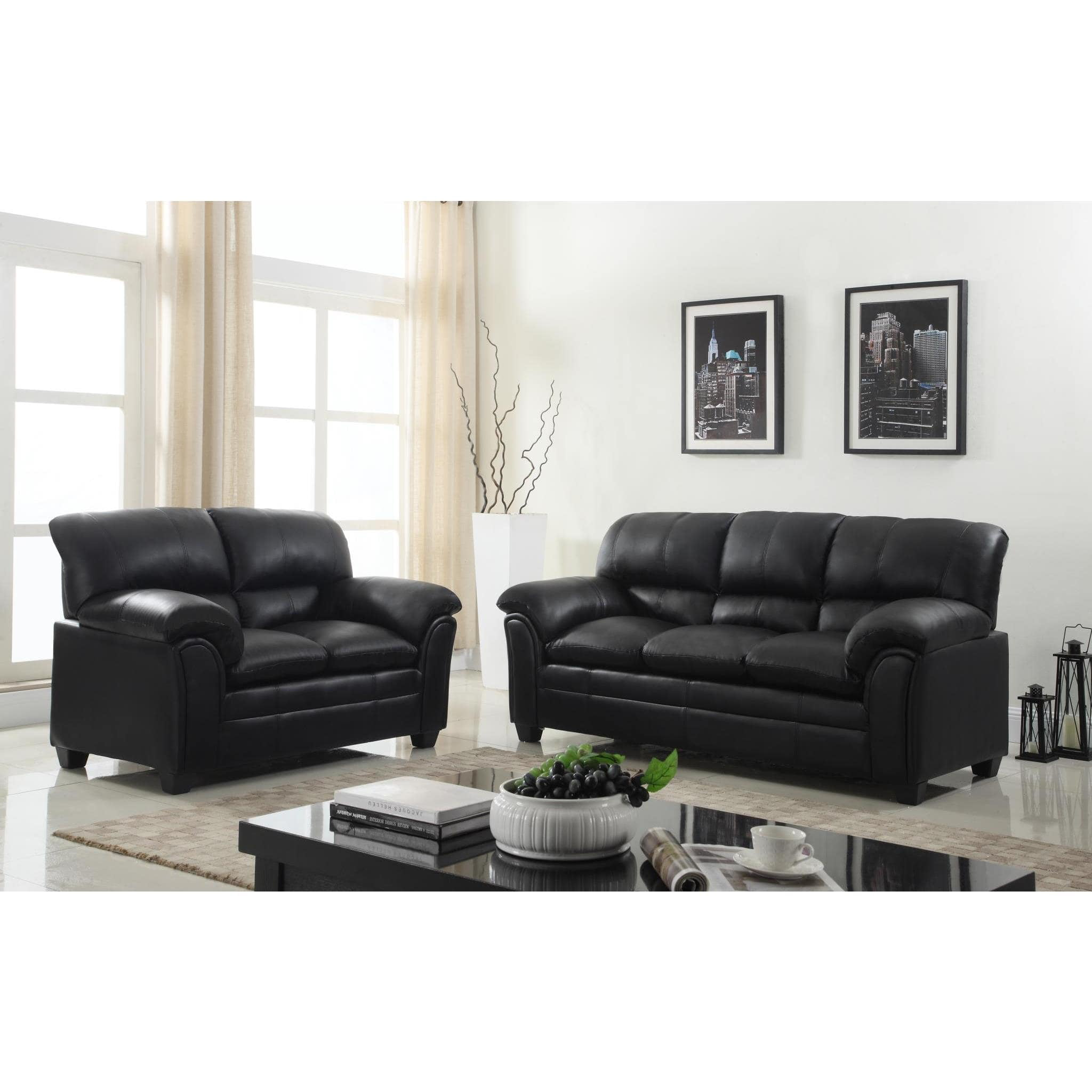 faux leather living room furniture gtu furniture faux leather sofa and loveseat living room 21775