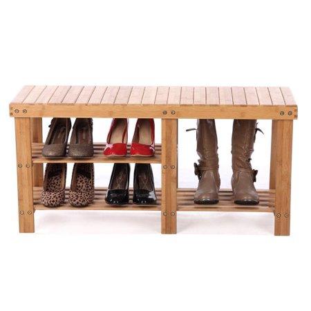 Astounding Zimtown Shoe Storage Bench Seat Organizer Entryway Wood Furniture Shelf Rack Hallway Theyellowbook Wood Chair Design Ideas Theyellowbookinfo