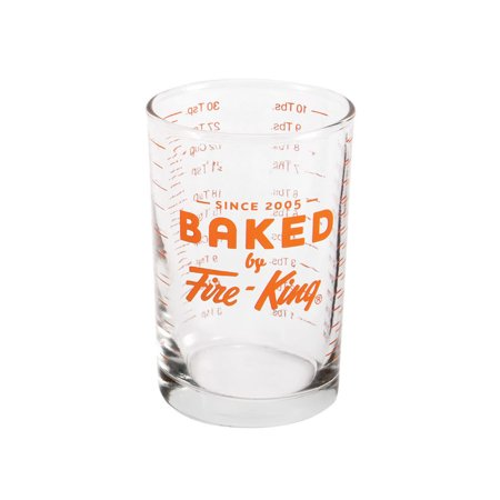 Baked By Fire-King Glass 5 Ounce Graduated Measuring Cup (Graduated Measuring Cup)