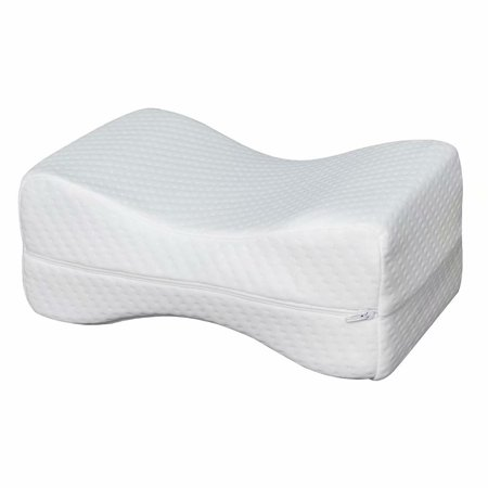 Knee Pillow for Side Sleepers - 100% Memory Foam Wedge Contour - Leg Pillows for Sleeping - Spacer Cushion for Spine Alignment, Back Pain, Pregnancy Support - Sciatica, Hip, Joint, (Best Only Mannequins® Maternity Pillows)