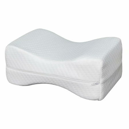 "11""*7""*4.5"" Sleep Restoration Double-sided Grooved Memory Foam Leg Support Pillow"