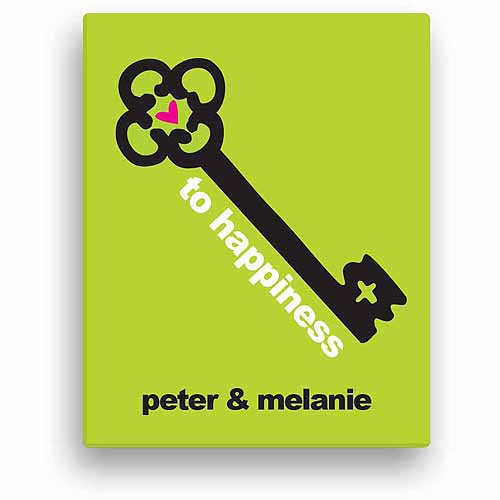 Key To Happiness Personalized Canvas
