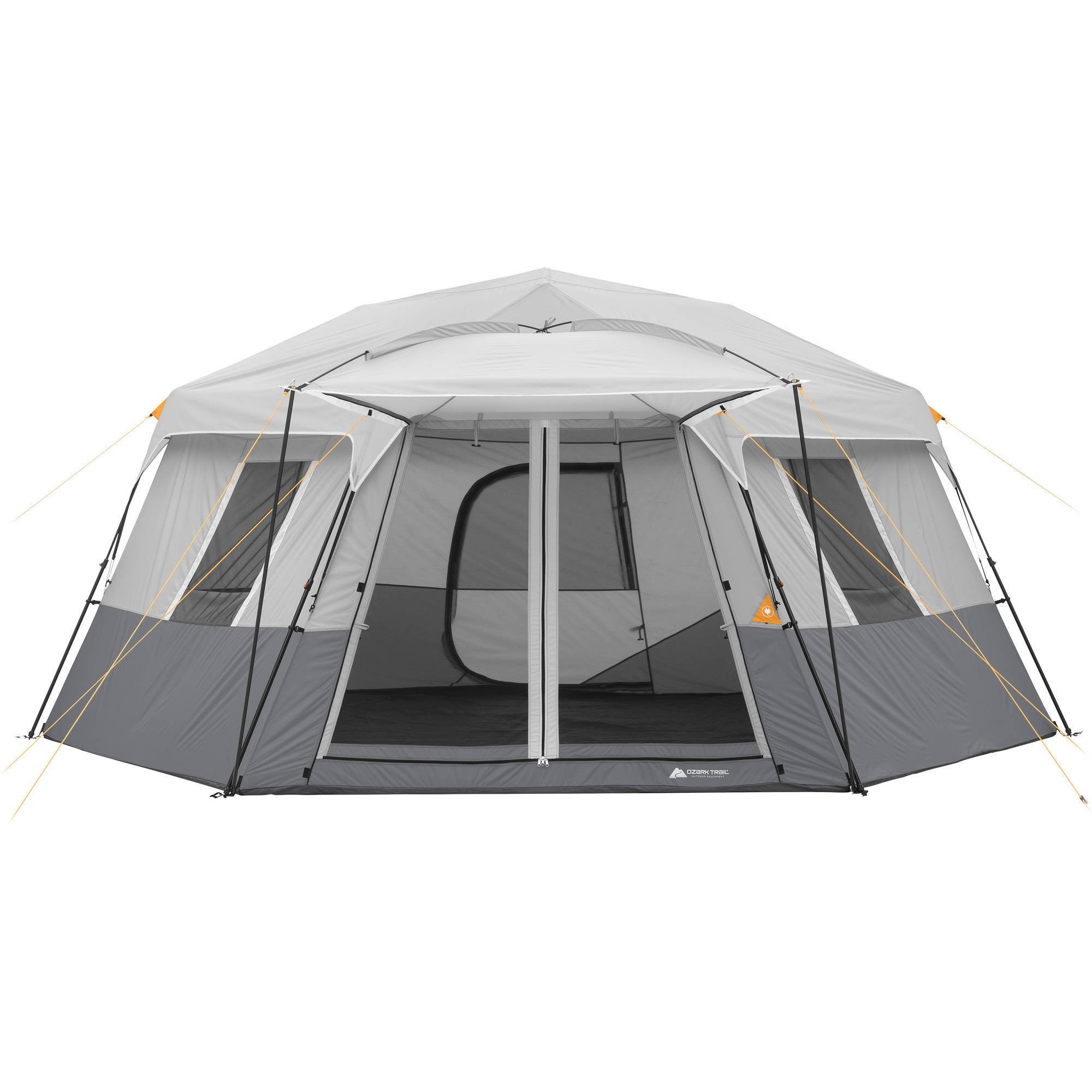 Ozark Trail 17u0027 X 15u0027 Person Instant Hexagon Cabin Tent, Sleeps 11