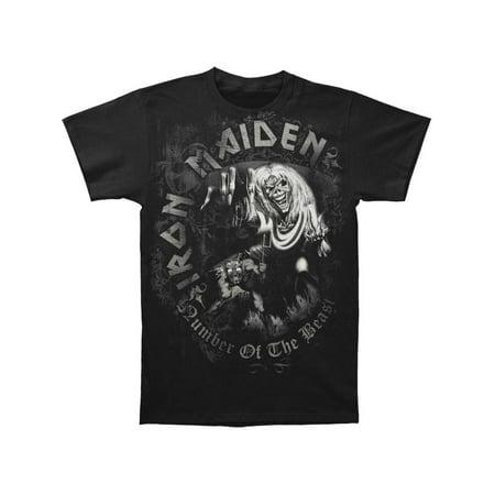 Iron Maiden Men's  NOTB Grey Tone T-shirt Black - Faire Maiden