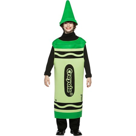 Crayola Green Tween Halloween Costume, Size: Tween Girls' - One Size