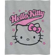 "Sanrio's Hello Kitty ""Varsity Kitty"" Sweatshirt Throw, 50"" x 60"""