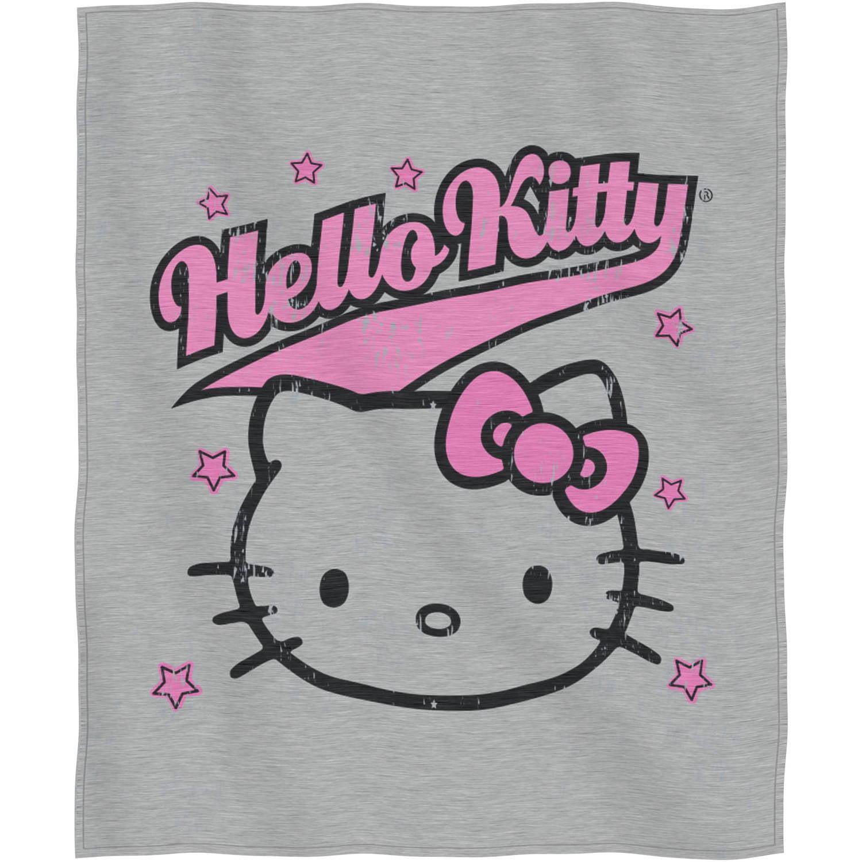 """Sanrio's Hello Kitty """"Varsity Kitty"""" Sweatshirt Throw, 50"""" x 60"""""""