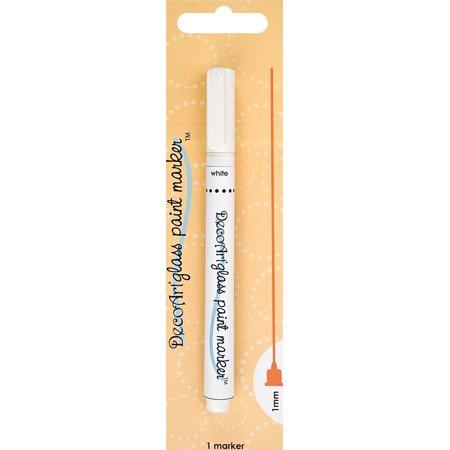 Decoart glass paint marker 1mm white for Enamel paint pens for glass
