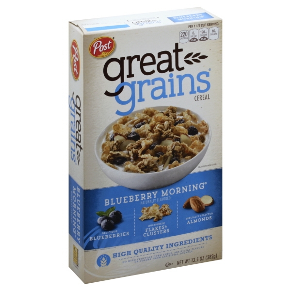 Post Great Grains Blueberry Morning Whole Grain Cereal 13