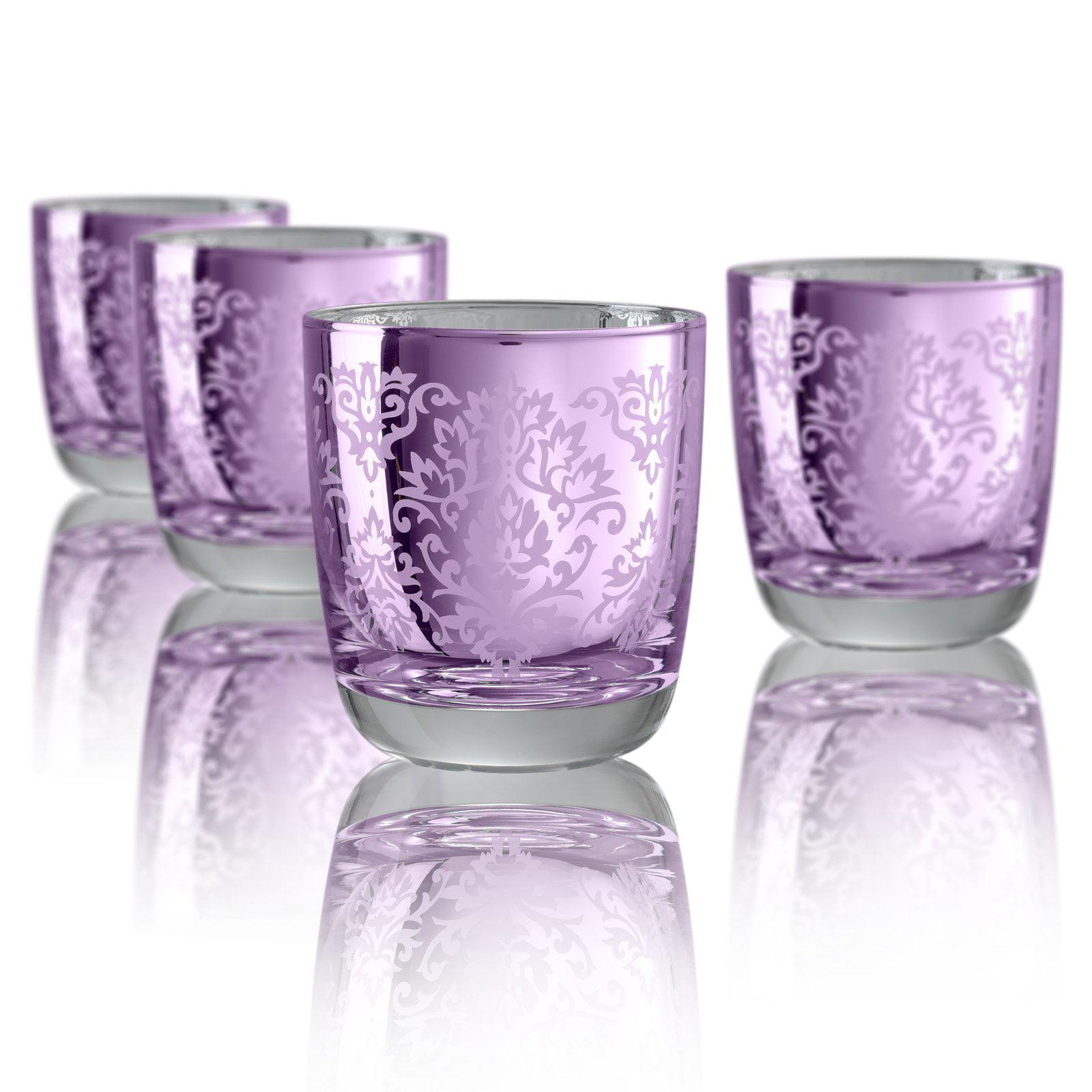 Artland Inc. Silver Brocade DOF Glasses- Set of 4
