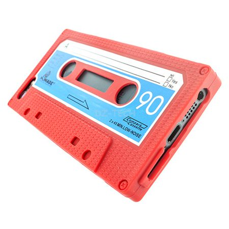 - iPhone SE / 5s / 5 Case, Colorful Cassette Retro Tape Soft Case Cover for Apple iPhone SE / 5c / 5s / 5 - Red