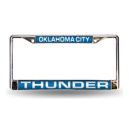 Oklahoma City Thunder Official NBA 12 inch x 6 inch Metal License Plate Frame by Rico Industries
