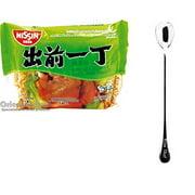 NineChef Bundle - NISSIN Demae Ramen Noodle with Soup Base (Chicken Flavor 24 Pack) + 1 NineChef ChopStick