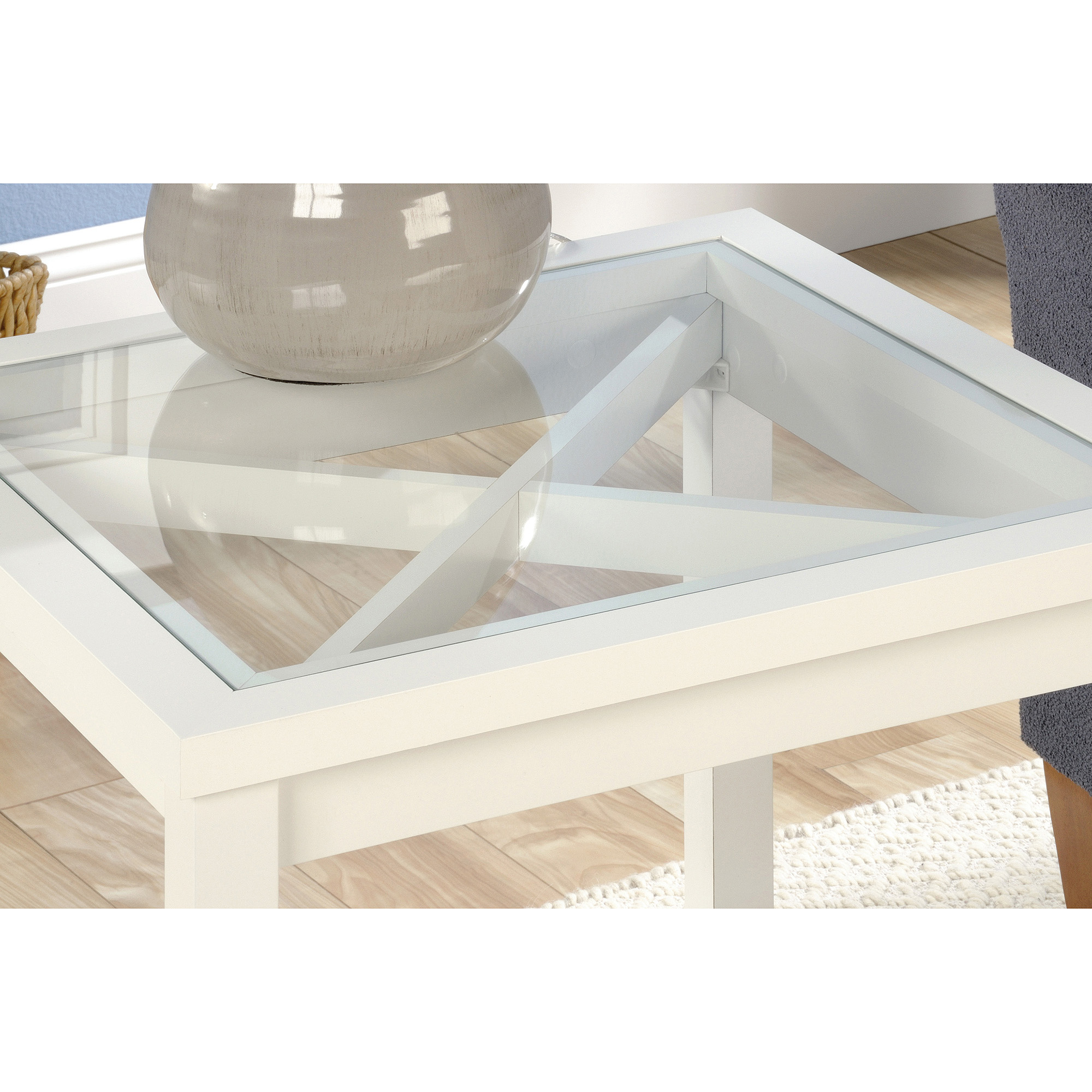 sauder cottage road collection side table soft white walmart com