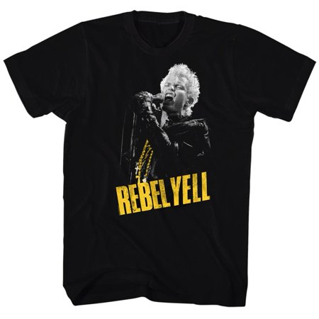 Billy Idol 80's Punk Rock Singer Musician MTV Adult T-Shirt Tee Rebel Yell - 80s Punk Rock Fashion