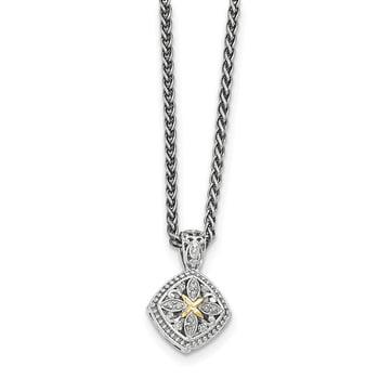 Lex /& Lu Sterling Silver Amethyst Small Heart Pendant