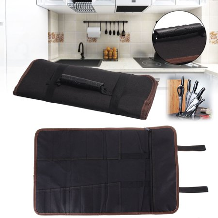 14 Pockets Professional Chef Knife Bag Roll Bag Carry Case Kitchen Portable Storage Knifes Good Quality For Home/Kitchen Dining