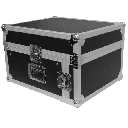 Seismic Audio 4 Space Rack Case with Slant Mixer Top - Amp Effect PA/DJ Pro Audio - SAMRC-4U