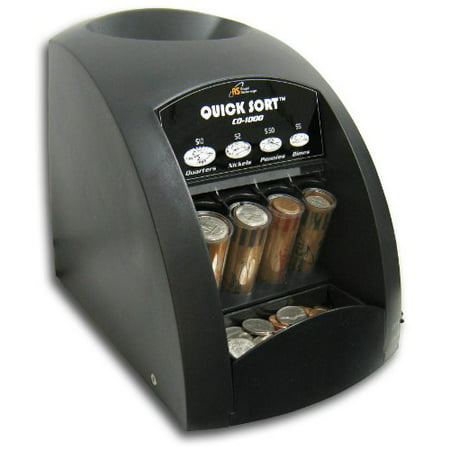 Fast Sort Co-1000 One-Row Coin Sorter, Pennies Through Quarters