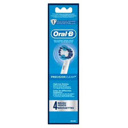 Oral-B Precision Clean Replacement Electric Toothbrush Head, 4 Count