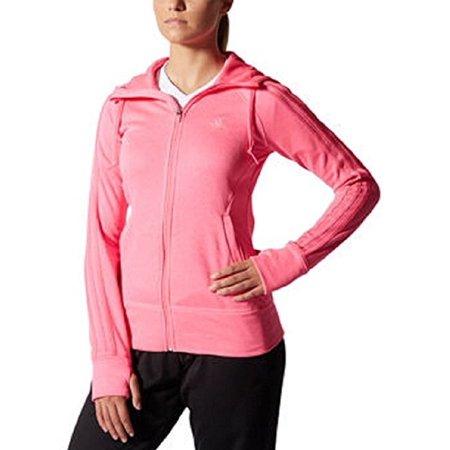 Adidas Ladies' Go-to Fleece Full Zip Jacket (Medium, Solar pink)