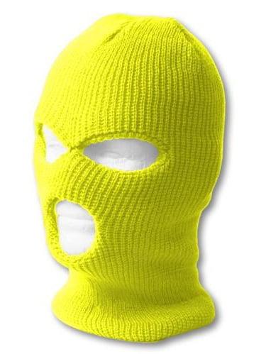 TopHeadwear's 3 Hole Face Ski Mask, Neon Yellow by TOP HEADWEAR