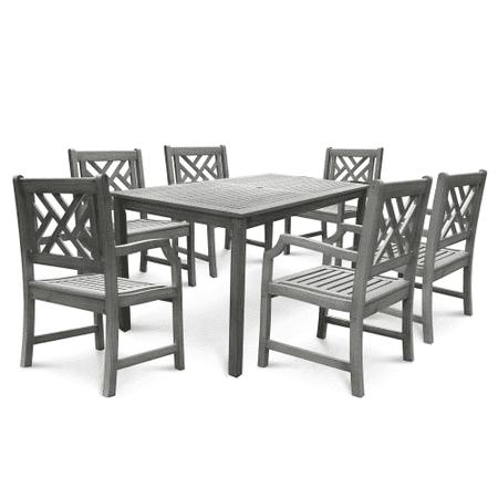 Vifah V1297SET9 Renaissance Acacia Dining Set Including Chairs and Dining (Vifah Single)