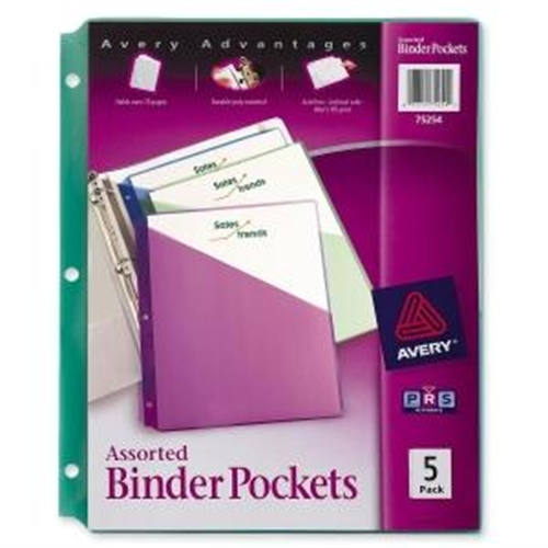 Avery Durable 3-Ring Poly Binder Pocket 75254