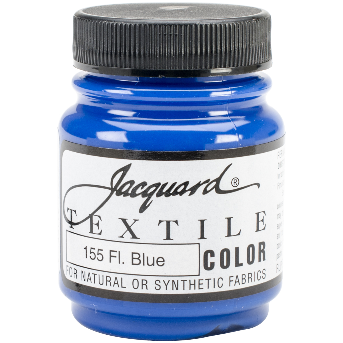 Jacquard Textile Color Fabric Paint 2.25Oz-Fluorescent Blue
