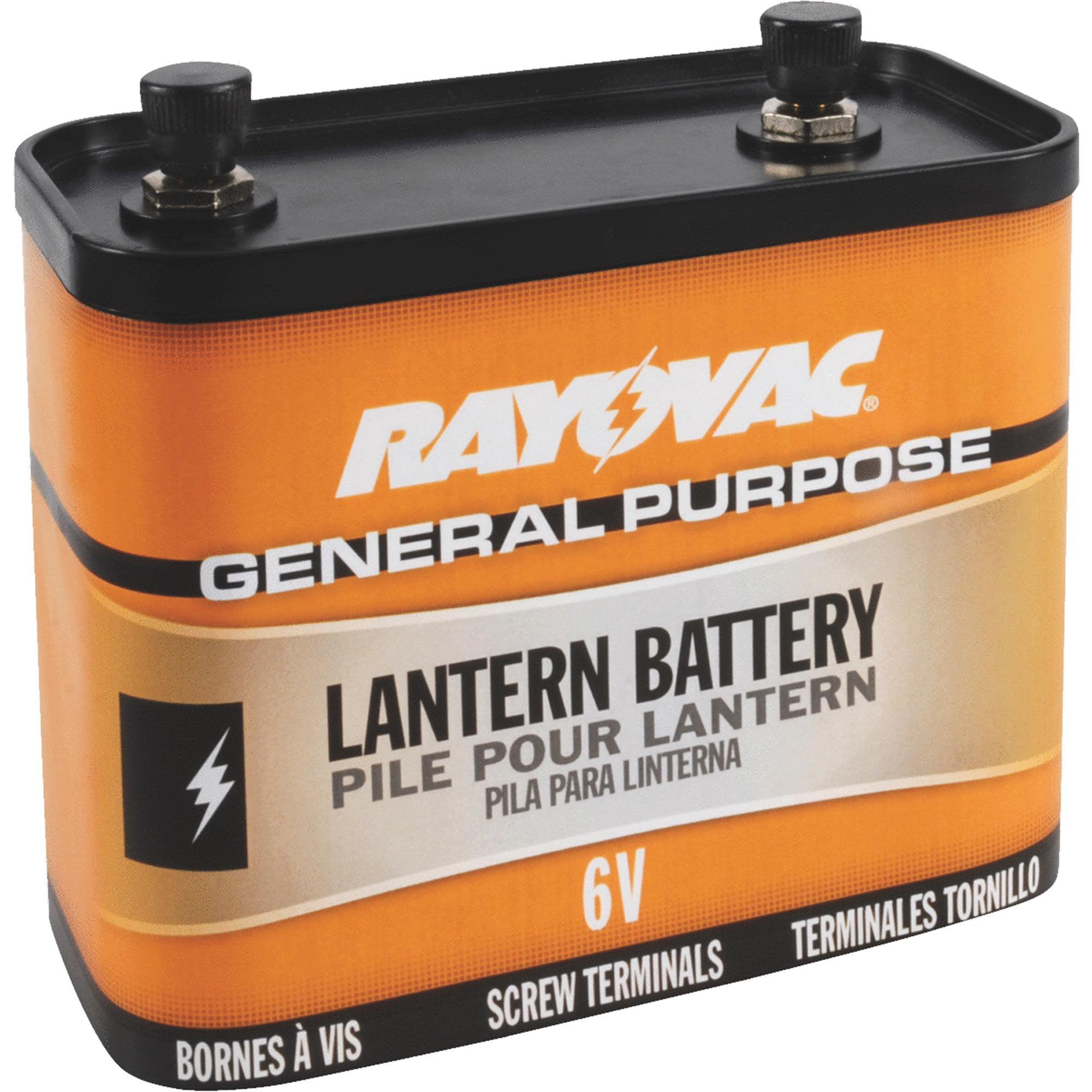 Rayovac General Purpose 6V Screw Terminal Zinc Lantern Battery