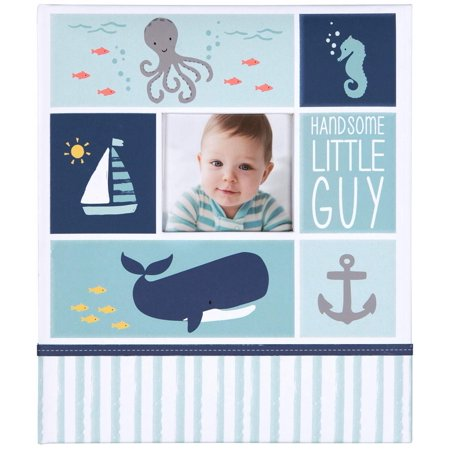 Carter's Blue Nautical My First Years Bound Memory Book for Baby Boys, 10