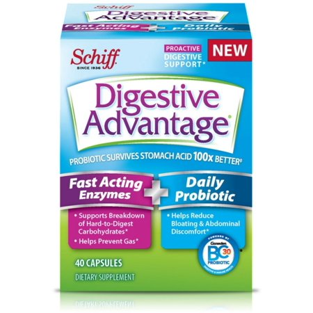 2 Pack - Digestive Advantage Fast Acting Enzymes + Daily Probiotic, 40 Capsules