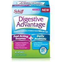 4 Pack - Digestive Advantage Fast Acting Enzymes + Daily Probiotic, 40 Capsules