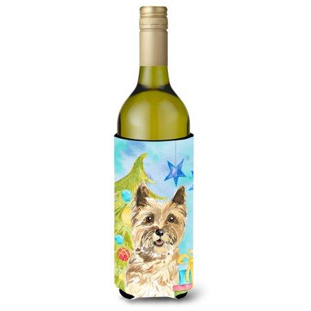 Christmas Tree Cairn Terrier Wine Bottle Beverge Insulator Hugger - Wine Bottle Trees
