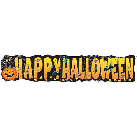 Paper Pumpkin Pals Halloween Banner, 4.5 ft, 1ct - Halloween Pumpkins Printable
