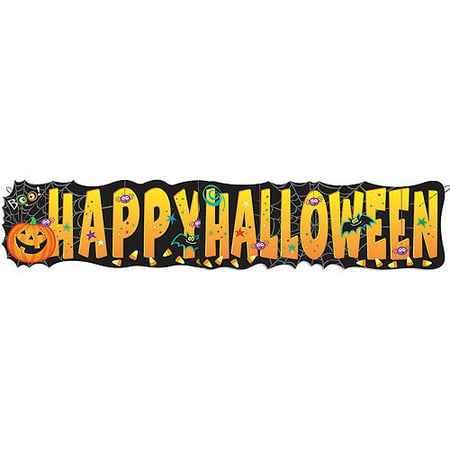 Pumpkin Pals Happy Halloween Banner, 4.5ft