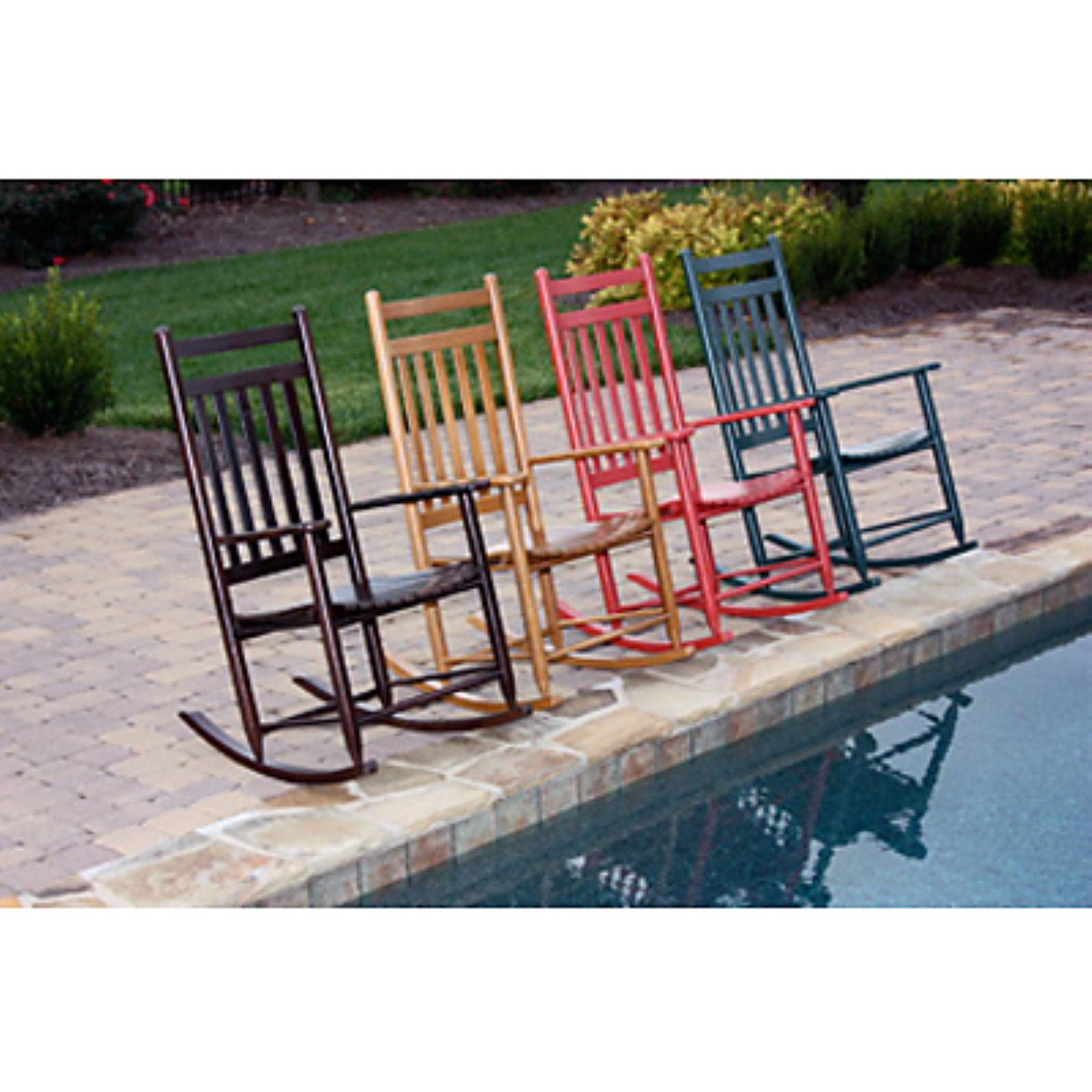 Dixie Seating Indoor Outdoor Slat Rocking Chair Fashion Colors by Dixie Seating Company