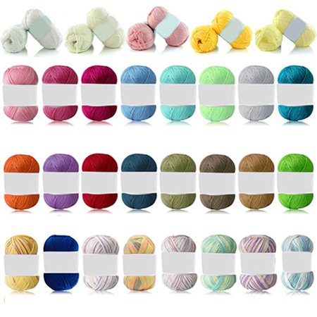 Heepo 1Pc 50g Per Skein Soft Bamboo Crochet Cotton Knitting Baby Knit Wool Yarn