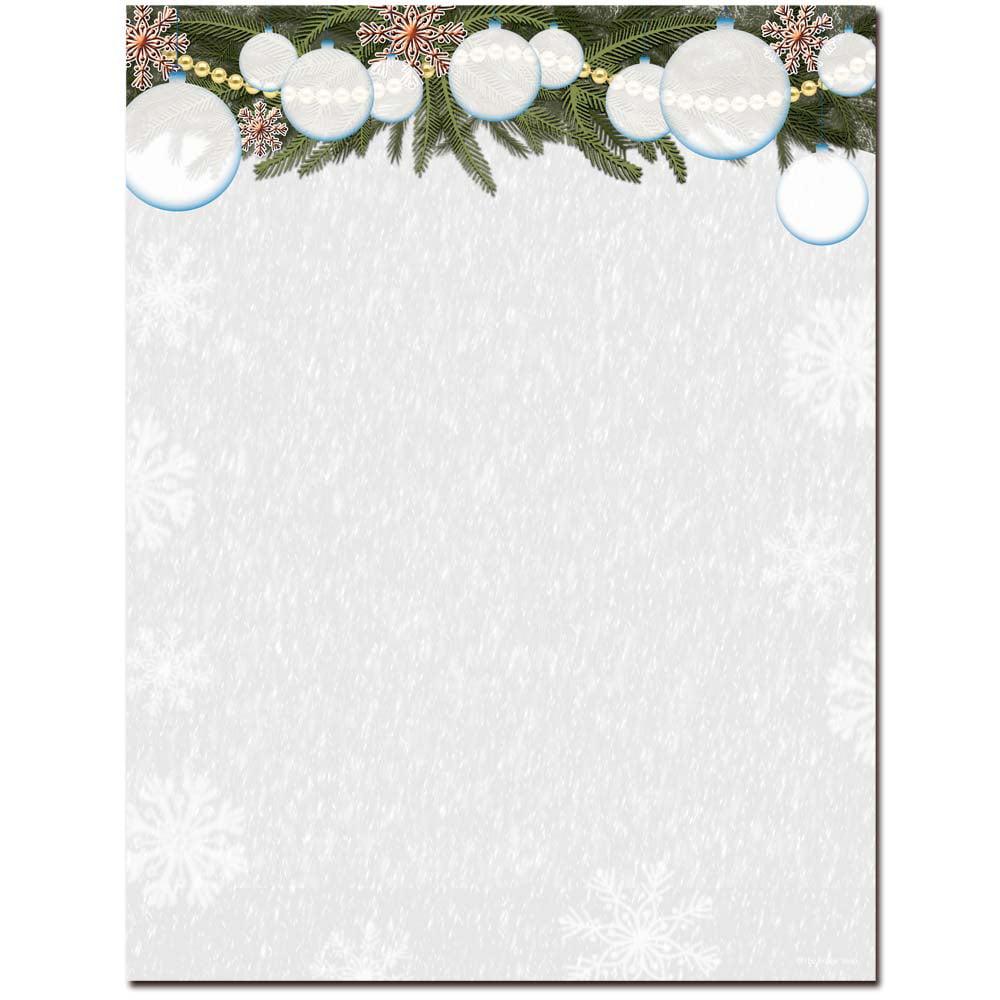 White Christmas Letterhead Laser & Inkjet Printer Paper