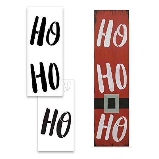 Large Christmas Stencils For Wood.Large Ho Ho Ho Stencil For Painting On Wood Reusable Mylar Template Ideal For Diy Crafting Tall Vertical Porch Welcome And Seasonal Signs Pallet