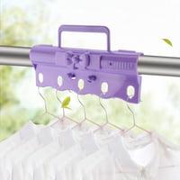 LYUMO 5 Holes Clothes Hanger Windproof Buckle Clothing Hooks Rack Organizer, Windproof Buckle for Clothes Hanger, Clothing Organizer