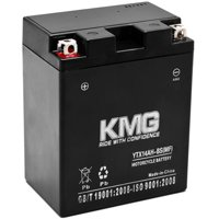 KMG Battery for Polaris 500 All Models 1999-2012 YTX14AH-BS Sealed Maintenance Free Battery High Performance 12V SMF OEM Replacement Powersport Motorcycle ATV Scooter Snowmobile