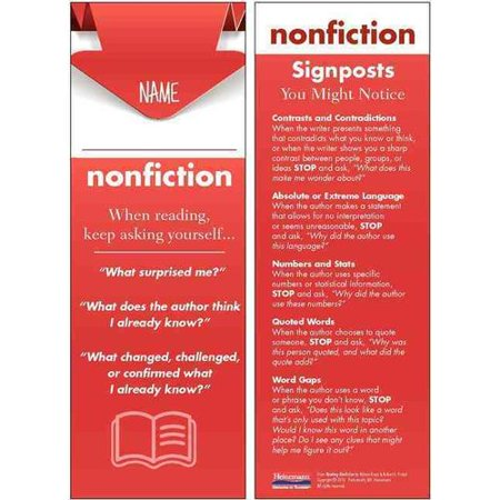 Reading Nonfiction Student Bookmarks  30 Pack