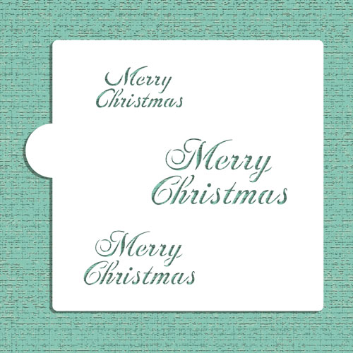 Designer Stencils Merry Christmas Cookie and Craft Stencil CM040