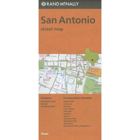 Rand mcnally san antonio, texas street map - folded map: (Distance From San Antonio Texas To Dallas Texas)